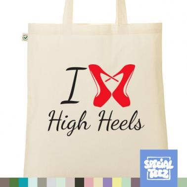 Jutebeutel - I love highheels