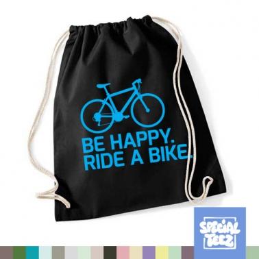 Sportbeutel - Be happy ride a bike