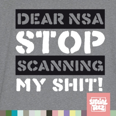 T-Shirt - Stop scanning my shit