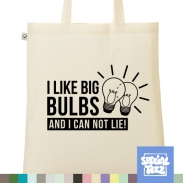 Jutebeutel - I like big bulbs