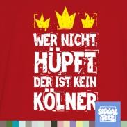 T-Shirt - Wer nicht hüpft ist kein Kölner
